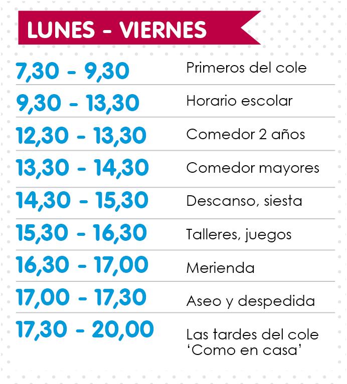 Horario De 7 30 20 00 Escuela Infantil Los Rosales Salamanca